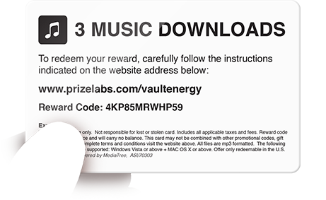 Music Download Card Reverse